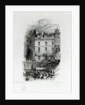 Napoleon's Lodgings on the Quai Conti by Joseph Mallord William Turner