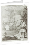 Captain Avery capturing the 'Ganj-i-Sawai' by English School