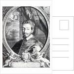 Pope Alexander VII, published by Clement de Jonghe by Cornelius de Visscher