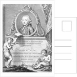 Sheet Music Cover with a portrait of Felice Giardini by Giovanni Battista Cipriani