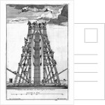 Erecting the Ancient Egyptian Obelisk in St. Peter's Square by Carlo Fontana