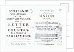 Pamphlets showing both sides of the Anglo-Scottish union debate by English School