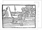Illustration from 'The Voyage of St. Brendan' by German School