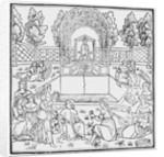 A Scene from the Decameron, by Giovanni Boccaccio by Italian School