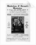 Advertisement for Maskelyne & Devant's Mysteries by English School