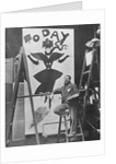 Dudley Hardy painting a poster for the magazine journal 'Today' by English Photographer