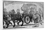 A nobleman in his carriage by English School