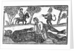 The Gelding of the Devil, an illustration from 'A Book of Roxburghe Ballads' by English School