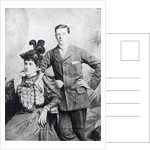 Winston Churchill with his mother, Lady Randolph Churchill by English Photographer