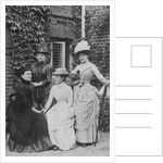 Jennie Jerome, later Lady Randolph Churchill, with her mother and sisters by English Photographer