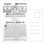 Document declaring the Pope's judgment on the validity of the marriage of Henry VIII and Catherine of Aragon by Italian School