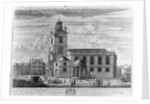 The South Prospect of the Church of St. Clements Danes, London by Johannes Kip