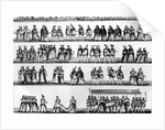 Procession at the Christening of Prince Arthur, son of Henry VII, engraved in 1782 by English School