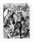 Robin Hood and Little John by English School