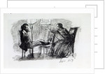 Rossetti being sketched by Elizabeth Siddal, September 1853 by Dante Gabriel Charles Rossetti