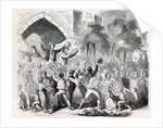 Attack on the Workhouse at Stockport in 1842 by English School