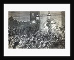 Bread Riot at the entrance to the House of Commons in 1815 by English School