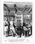 The bindery of Laurens Janszoon Koster by Pieter Jansz Saenredam