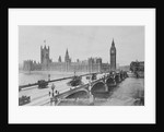 Westminster Bridge and the Houses of Parliament by English Photographer