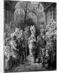 The Bride and Groom entering the hall by Gustave Dore