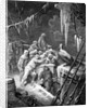 The albatross being fed by the sailors on the the ship marooned in the frozen seas of Antartica by Gustave Dore