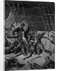 The sailors curse the Mariner, forced to wear the dead albatross around his neck by Gustave Dore