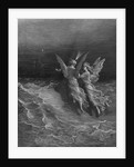 The two fellow spirits of the Spirit of the South Pole ask the question why the ship travels so swiftly without the help of wind or sea by Gustave Dore
