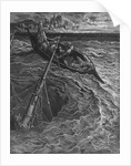 The ship sinks but the Mariner is rescued by the Pilot and Hermit by Gustave Dore