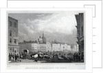 Smithfield Market from the Barrs, engraved by Thomas Barber by Thomas Hosmer Shepherd