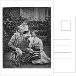 Charles Dickens with two of his daughters by English Photographer