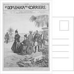Queen Victoria on the Italian Riviera, frontcover of 'La Domenica del Corriere' by Italian School