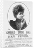Advertisement for the Carbolic Smoke Ball, a cure for hay fever by English School
