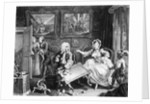 A Harlot's Progress, plate II, Quarrels with her Jew Protector by William Hogarth