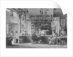 Cap Vendor's Shop, Canton by Thomas Allom