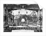 A performance of 'Le Turc Genereux' in Vienna by Bernardo Bellotto