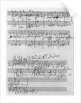 Handwritten musical score by Ludwig van Beethoven