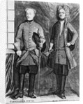 Charles XII of Sweden with his advisor Baron Gortz by Swedish School