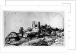 Landscape with a Tower by Rembrandt Harmensz. van Rijn