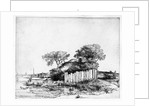 Cottage with a white paling by Rembrandt Harmensz. van Rijn