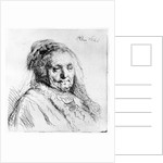 Portrait of the artist's mother by Rembrandt Harmensz. van Rijn