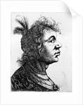 Head of a woman by Rembrandt Harmensz. van Rijn