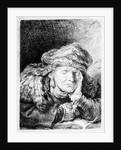 An Old Woman Sleeping by Rembrandt Harmensz. van Rijn