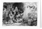 The Angel departing the family of Tobias by Rembrandt Harmensz. van Rijn