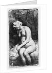Woman bathing by Rembrandt Harmensz. van Rijn
