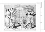 Cordelia led away from Goneril and Regan by Ford Madox Brown