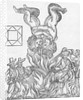 Facsmilie of the Astrological Hieroglyphic forecasting the Great Fire of London by William Lilly