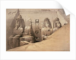 Front Elevation of the Great Temple of Aboo Simbel, Nubia by David Roberts