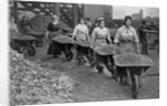 Women Barrowing Coke at a Gas Works, War Office photographs by English Photographer