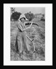 Harvesting - Member of the Leicester Women's Volunteer Reserve helping a farmer, War Office photographs by English Photographer