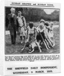 Bertrand Russell and his wife Dora Black with pupils from their Beacon Hill School by English Photographer